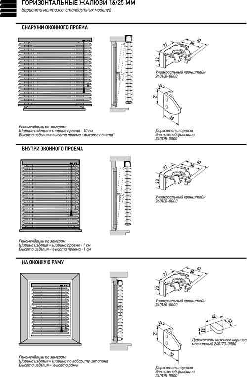 Монтаж горизонтальных жалюзи на пластиковые окна своими руками 10